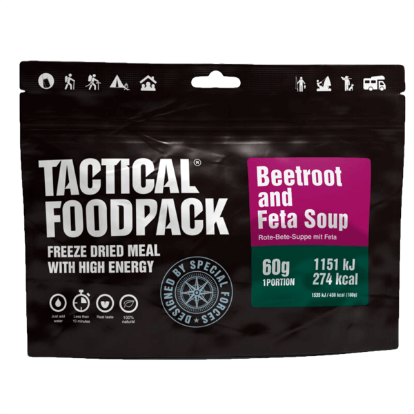 """Tactical Foodpack """"Rote-Beete-Suppe mit Feta"""""""