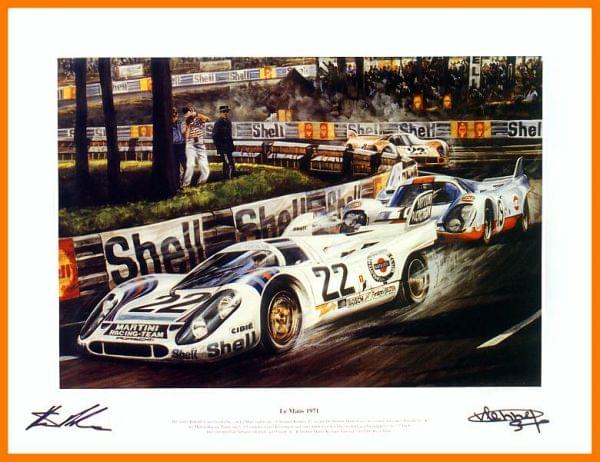 Le Mans 1971 - Gesamtsieg im Martini Porsche 917 (Kunstdruck)