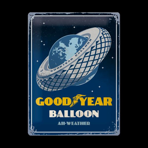 """Goodyear Blechschild """"Balloon"""""""