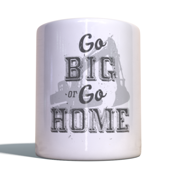 """Gold Rush Becher """"Go big or go home"""""""