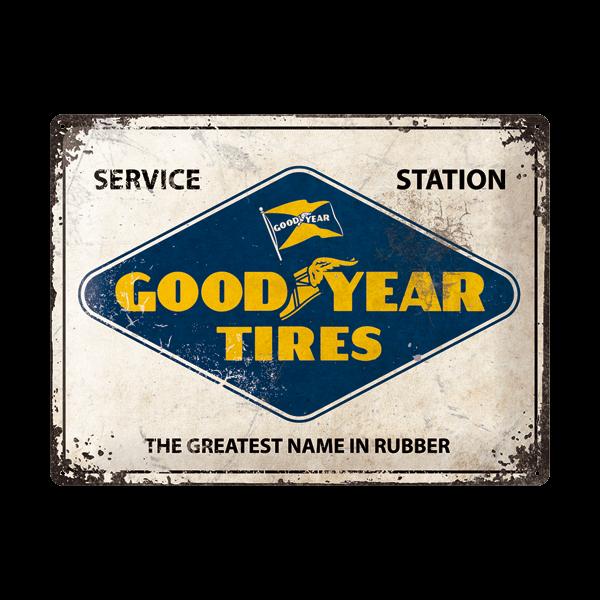 "Goodyear Blechschild ""Service Station"" (30 x 40 cm)"