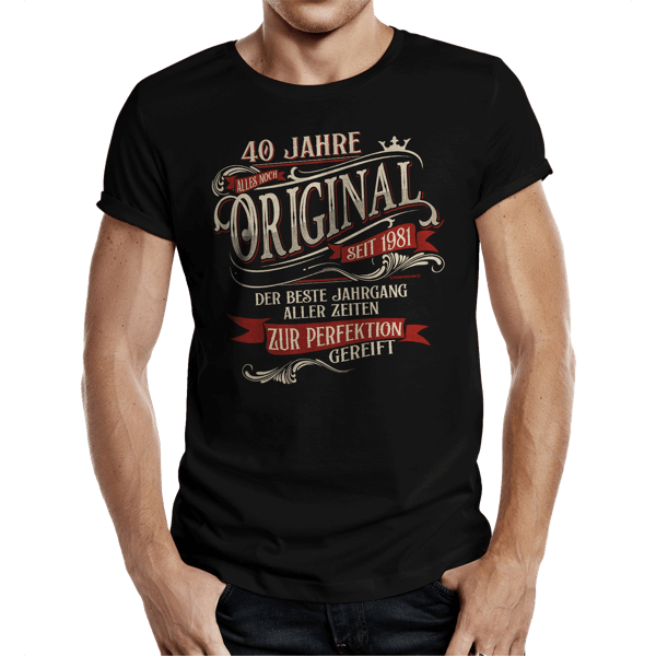 "T-Shirt ""Perfektion seit 1981"""