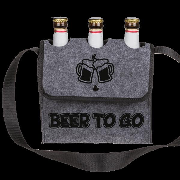"""Umhängetasche """"Beer to go"""""""