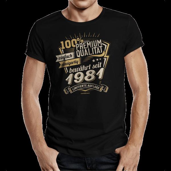 """T-Shirt """"Premium Qualität seit 1981"""""""