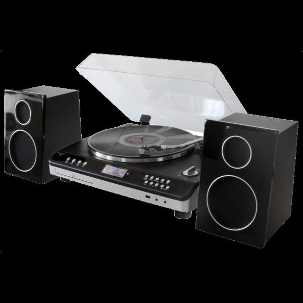 Retro Hifi-Anlage mit DAB+/UKW, CD/MP3, USB und Direktaufnahme