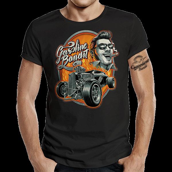 """T-Shirt """"Rockabilly Hot Rod"""" von Gasoline Bandit"""